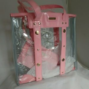 Versace beach summer bag with purce pink